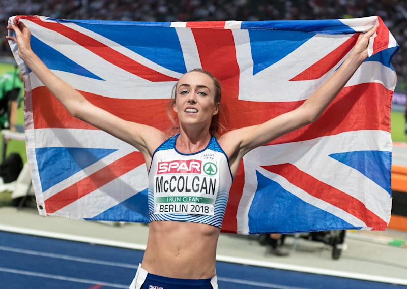 Eilish McColgan wins the 5000 metres silver at the European Championship. (Credit: Getty Images)