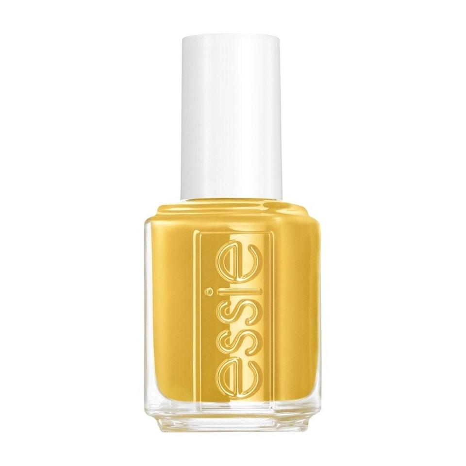 When you think of gold nail polish, a glittery metallic tone may come to mind, but Essie's latest take on the shade, Zest Is Yet to Come, is a muted masterpiece. Made with just the slightest hint of pearlescence, the creamy color makes mustard yellow feel surprisingly glamorous, all the while adding an unexpected edginess to any look without being an overly obvious flashy or dark shade.
