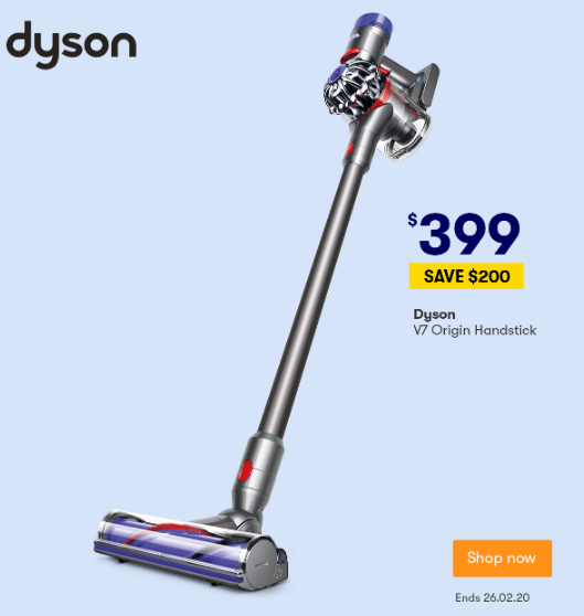 Big W will sell Dysons for $200 off. Source: Big W