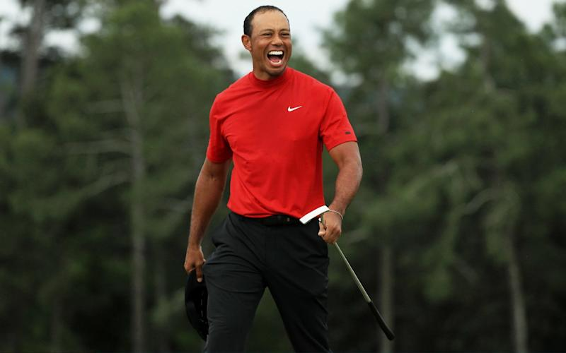 Tiger Woods celebrates his Masters comeback - Getty Images North America