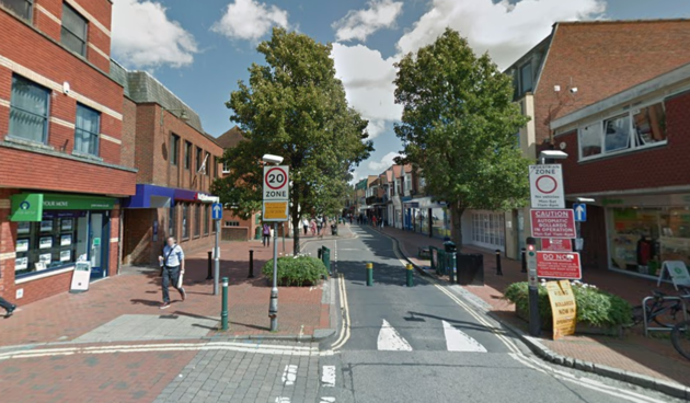 The alleged kidnapping attempt happened near Egham's High Street, police said.