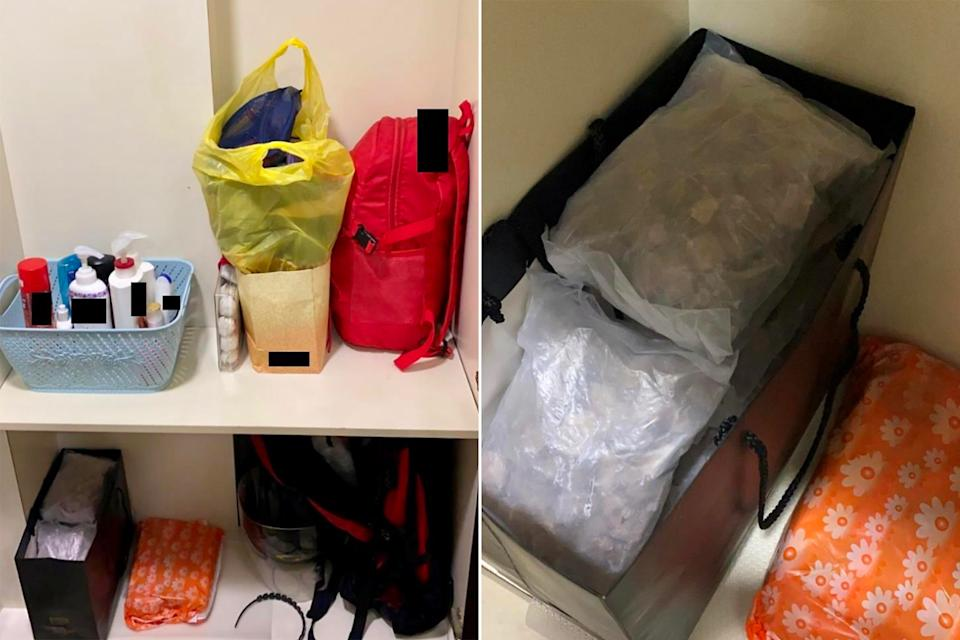 Illicit drugs seized from a hotel room around Balestier Road on Tuesday (16 February). (PHOTO: CNB)