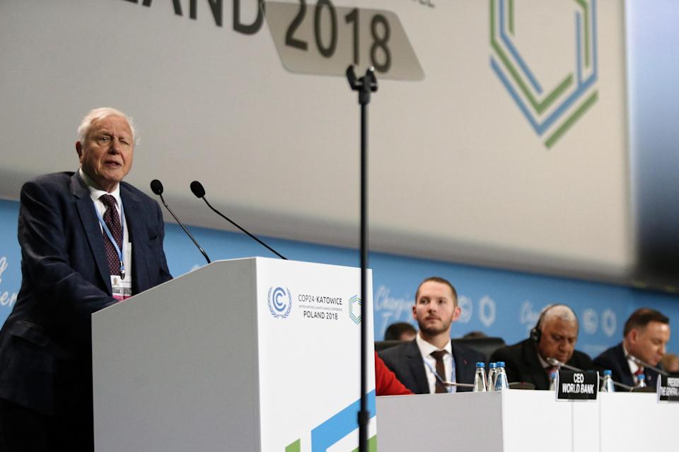 David Attenborough delivered words of warning in Poland over the weekend. Source: AAP
