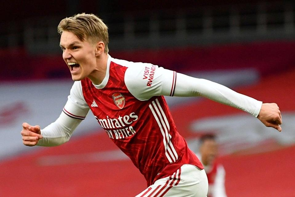 <p>Odegaard could miss two key fixtures</p> (Pool via REUTERS)