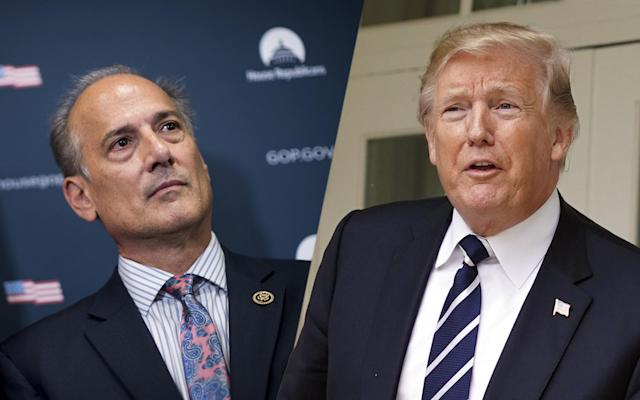 President Trump said Rep. Tom Marino, R-Pa., has withdrawn his name from consideration to be the country's drug czar. (Photos: Bill Clark/CQ Roll Call/Getty Images, Pablo Martinez Monsivais/AP)