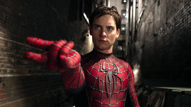Tobey Maguire played Spider-Man on the big screen three times between 2002 and 2007. (Credit: Sony)