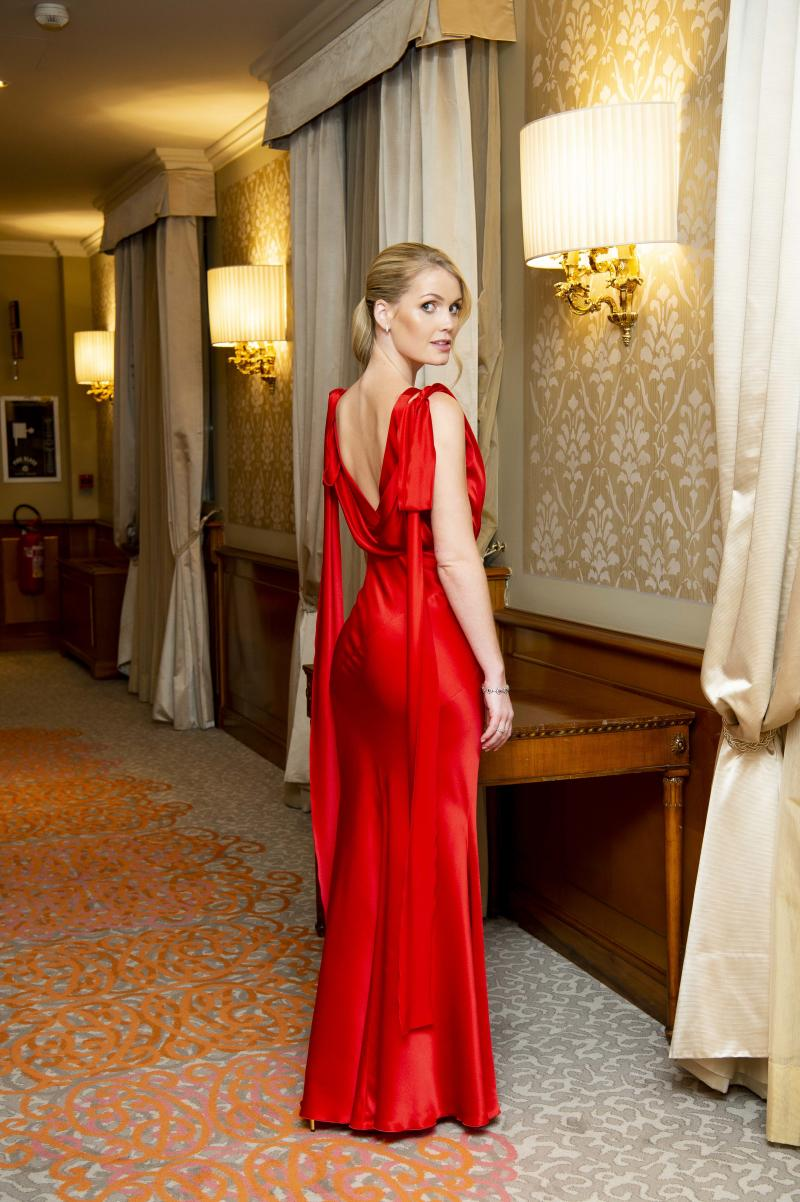 MILAN, ITALY - FEBRUARY 19: Lady Kitty Spencer attends the Alberta Ferretti after party during Milan Fashion Week Fall/Winter 2020-2021 at Palazzo Donizetti on February 19, 2020 in Milan, Italy. (Photo by David M. Benett/Dave Benett/Getty Images)