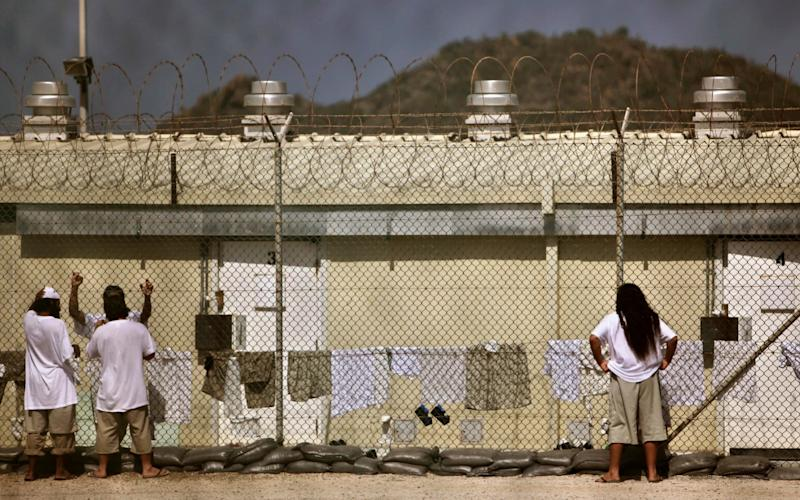 Detainees at the Guantanamo Bay prison camp - REUTERS