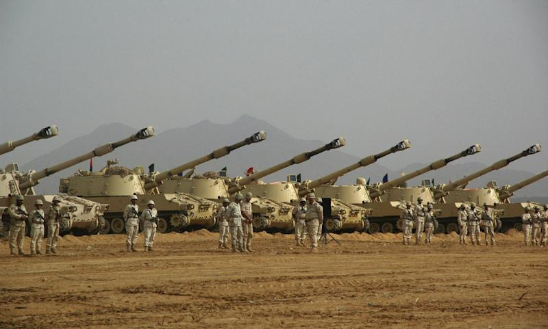 Saudi soldiers near the border with Yemen have been issued with a 'shoot on sight' order after Al-Qaeda in the Arabian Peninsula has established a major presence amid deepening instability (AFP Photo/)