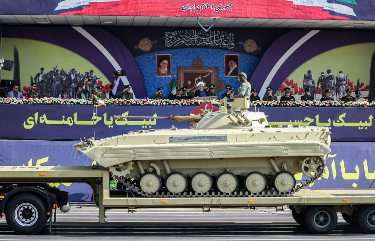 The parade showcased tanks, armoured vehicles, drones and missiles
