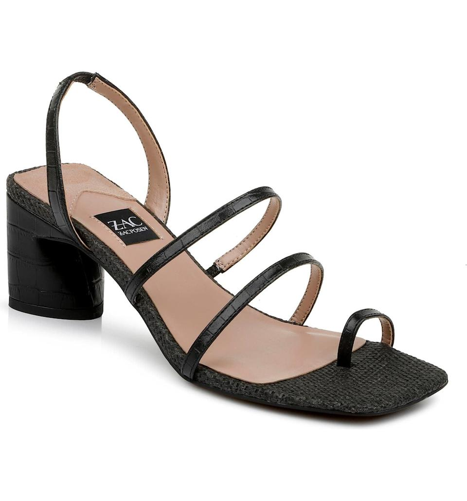 <p>This trendy <span>Zac Zac Posen Sammy Sandal</span> ($119) has a classic look with versatile appeal. Pair it with your favorite jeans, slip skirt, or dress ensemble.</p>