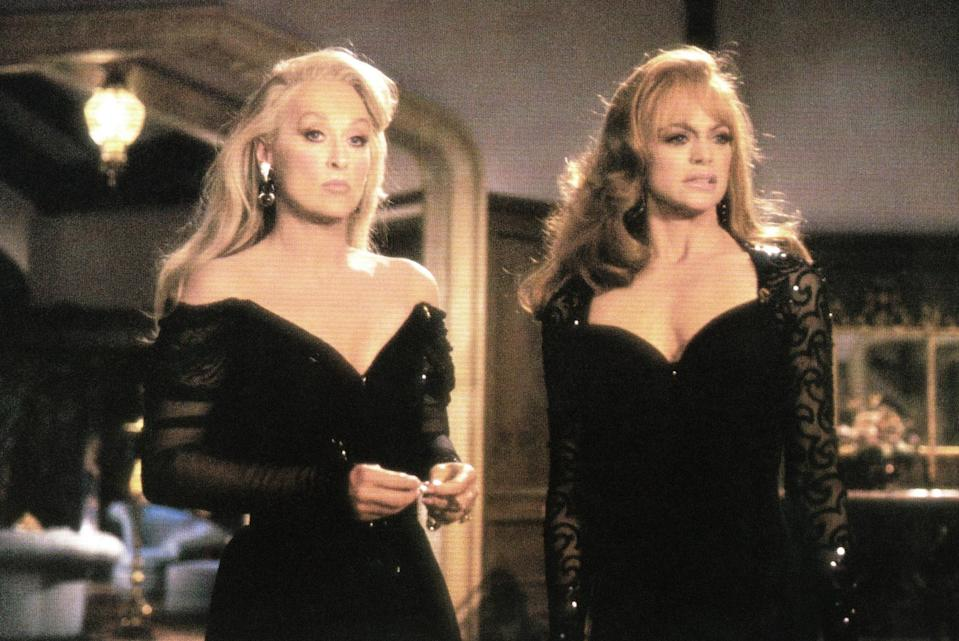 "<p><em>Death Becomes Her</em> is one of the many movies I watched because I kept seeing it all over Tumblr when I was in college. The film has a <a href=""https://www.vanityfair.com/hollywood/2017/08/death-becomes-her-25th-anniversary-meryl-streep-goldie-hawn-gay-classic?mbid=synd_yahoo_rss"" rel=""nofollow noopener"" target=""_blank"" data-ylk=""slk:cult following"" class=""link rapid-noclick-resp"">cult following</a> and rightfully so: Meryl Streep and Goldie Hawn play rivaling ex-friends who drink a potion for eternal youth (but obviously, things don't turn out as planned). With delicious one-liners like, ""She is a woman Ernest, a woman, from Newark, for God's sake,"" this one can't be missed. — <em>KH</em> </p> <p><a href=""https://www.hulu.com/movie/death-becomes-her-44866c00-5880-472b-b978-e95c38cd0196?entity_id=44866c00-5880-472b-b978-e95c38cd0196"" rel=""nofollow noopener"" target=""_blank"" data-ylk=""slk:Stream here"" class=""link rapid-noclick-resp""><em>Stream here</em></a></p>"