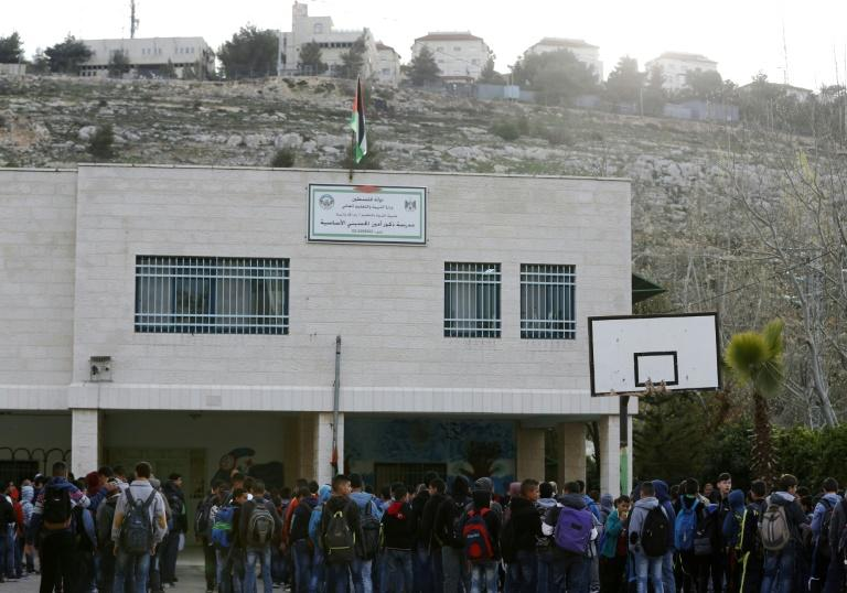 The Amin al-Husseini school in al-Bireh in the occupied West Bank is named for a former grand mufti of Jerusalem, a hero for Palestinians but seen as a Nazi ally by Israelis