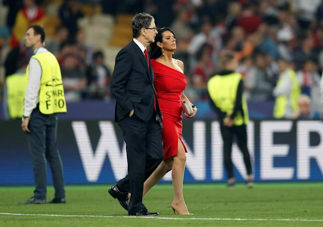 Soccer Football - Champions League Final - Real Madrid v Liverpool - NSC Olympic Stadium, Kiev, Ukraine - May 26, 2018 Liverpool owner John W. Henry and his wife Linda Pizzuti after the match REUTERS/Andrew Boyers