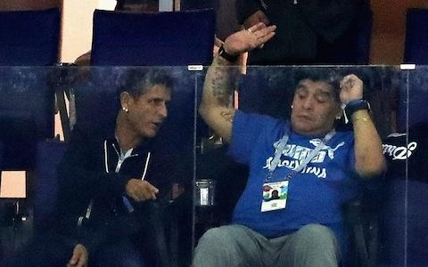 Diego Maradona waves - Credit: GETTY IMAGES
