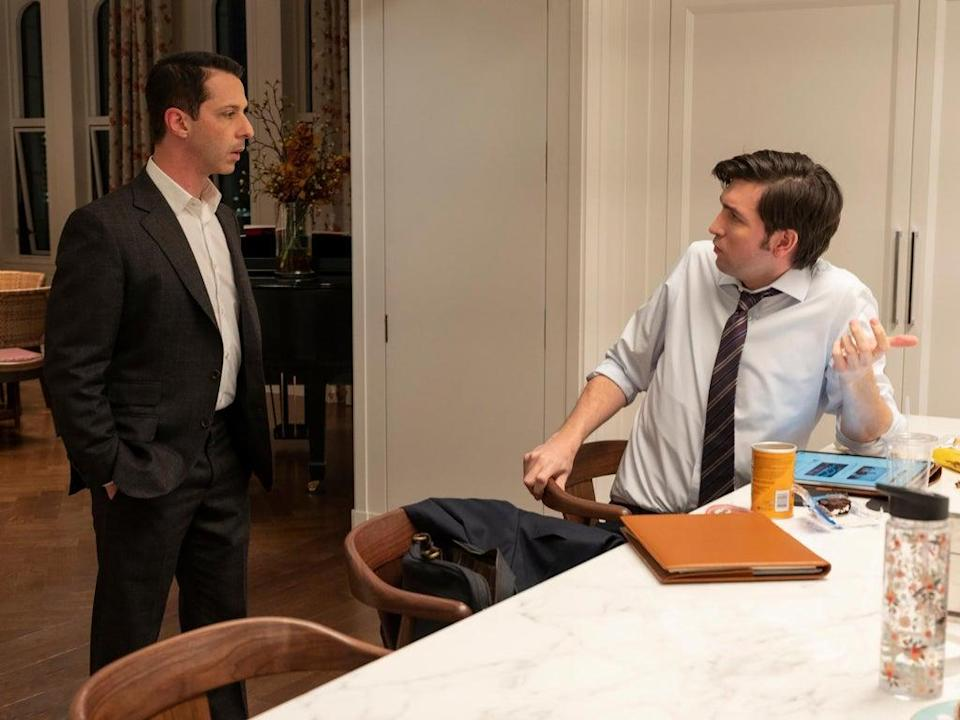Jeremy Strong and Nicholas Braun in 'Succession' (David Russell/HBO)