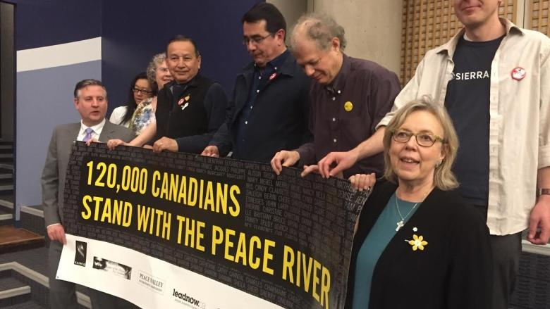 Site C petition delivers 120K signatures asking feds to halt dam construction