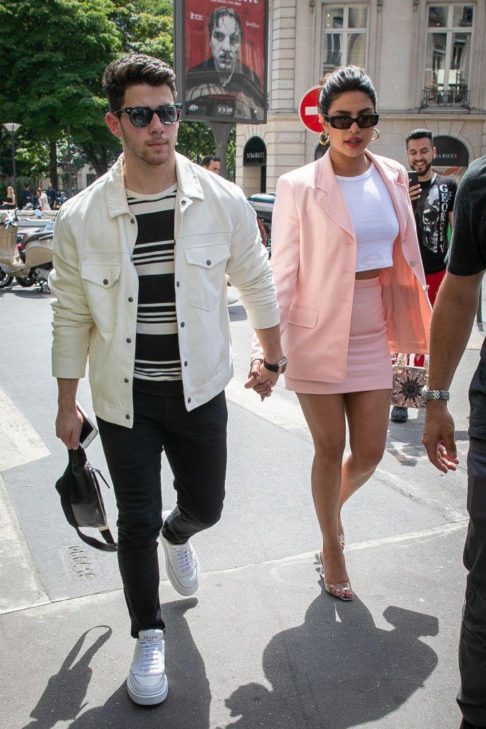 "<p>The couple look like chic tourists exploring the city of love ahead of <a href=""https://www.elle.com/uk/life-and-culture/a28162992/sophie-turner-joe-jonas-wedding-france/"" rel=""nofollow noopener"" target=""_blank"" data-ylk=""slk:Sophie Turner and Joe Jonas' wedding."" class=""link rapid-noclick-resp"">Sophie Turner and Joe Jonas' wedding.</a></p>"