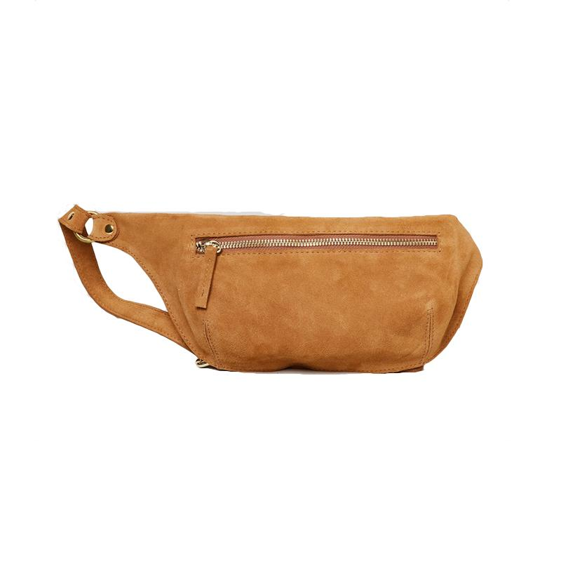 """<a rel=""""nofollow"""" href=""""https://rachelcomey.com/collections/bags/products/ante-fanny-pack?variant=8977257791549"""">Ante Fanny Pack, Rachel Comey, $325<p>A camel-colored piece is perfect for the '70s-inspired woman.</p> </a>"""