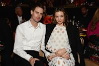 """<p>Congratulations are in order for Miranda Kerr and her Snapchat co-founder husband, Evan Spiegel, on the birth of their baby boy. According to <a href=""""http://www.tmz.com/2018/05/09/miranda-kerr-gives-birth-to-daughter/"""" rel=""""nofollow noopener"""" target=""""_blank"""" data-ylk=""""slk:TMZ"""" class=""""link rapid-noclick-resp"""">TMZ</a>, the couple have decided to name their newborn Hart, which is reportedly after Evan's grandfather. Little Hart will be a baby brother to seven-year-old son, Flynn, who Miranda shares with her former partner, actor Orlando Bloom.<em> [Photo: Getty]</em> </p>"""