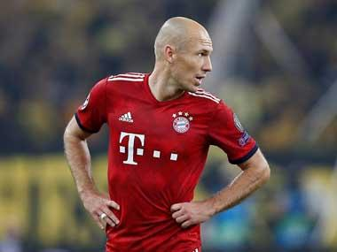 Bundesliga: Mysterious thigh strain threatens to rain on Arjen Robben's parade as Dutch winger misses out on final season
