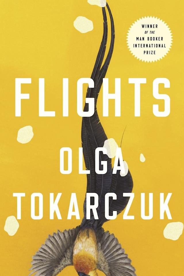 """<p><b><i>Flights</i> by Olga Tokarczuk</b></p> <p>To buy: $26, <a href=""""https://www.amazon.com/Flights-Olga-Tokarczuk/dp/0525534199/"""" target=""""_blank"""">amazon.com</a>, <a href=""""https://www.indiebound.org/book/9780525534198"""" target=""""_blank"""">indiebound.org</a></p> <p>Written by Olga Tokarczuk and translated by Jennifer Croft, this hypnotizing new novel about travel, movement, and the complexities of distance deserves a place on every bookshelf. It already brings with it heaps of praise—it won the Man Booker International Prize this year—but awards or no, readers should approach <i>Flights </i>with wide open minds and discover the book's profound meditations for themselves. (August 14)</p>"""