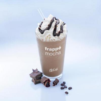 """McDonald's-<br /><b>The Worst of the Bunch: McDonald's Frappe Mocha</b> (medium, 16 ounces) delivers 560 calories, 24 g fat, a day's worth of saturated fat (15 g), 70 g sugar, 160 mg sodium. I was surprised to learn that it's comparable nutrition-wise to a Big Macâ€""""which has 540 calories, 29 g fat, 10 g saturated fat, 9 g sugar, 1,040 mg sodium. <br> <br> <b>How to Order a Healthier McDonald's Frozen Coffee Drink:</b> Skip the whipped cream and chocolate drizzle and you'll save 90 calories, 7 g fat and 4 g saturated fat, plus a little sugar and sodium. <br> <br> Save even more with a small: it's 12 ounces and has 450 calories, 20 g fat, 13 g saturated, 56 g sugar, 130 mg sodium. <br> <br> <b>Must-Read: <a rel=""""nofollow"""" href=""""http://www.eatingwell.com/nutrition_health/nutrition_news_information/the_best_oatmeals_at_fast_food_restaurants?utm_source=YahooBlog_Brierley_CoffeeDrinks_060811"""">The Healthiest Oatmeals at Fast-Food Restaurants</a></b>"""
