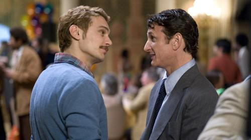 GOT 'MILK': James Franco, left, plays Scott Smith, and Sean Penn is Harvey Milk, who was shot and killed in 1978