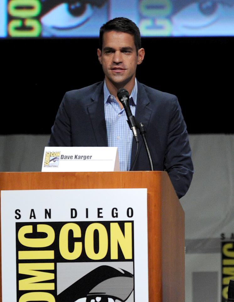 """SAN DIEGO, CA - JULY 13:  Dave Karger speaks at the """"Paranorman: Behind The Scenes"""" panel during Comic-Con International 2012 at San Diego Convention Center on July 13, 2012 in San Diego, California.  (Photo by Kevin Winter/Getty Images)"""