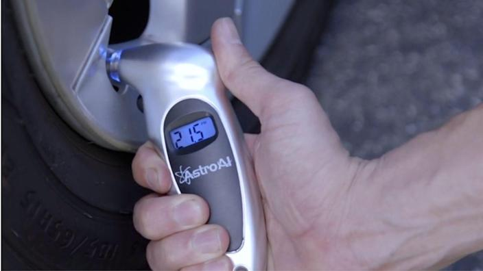 Keep track of your tire pressure during those long road trips this summer.
