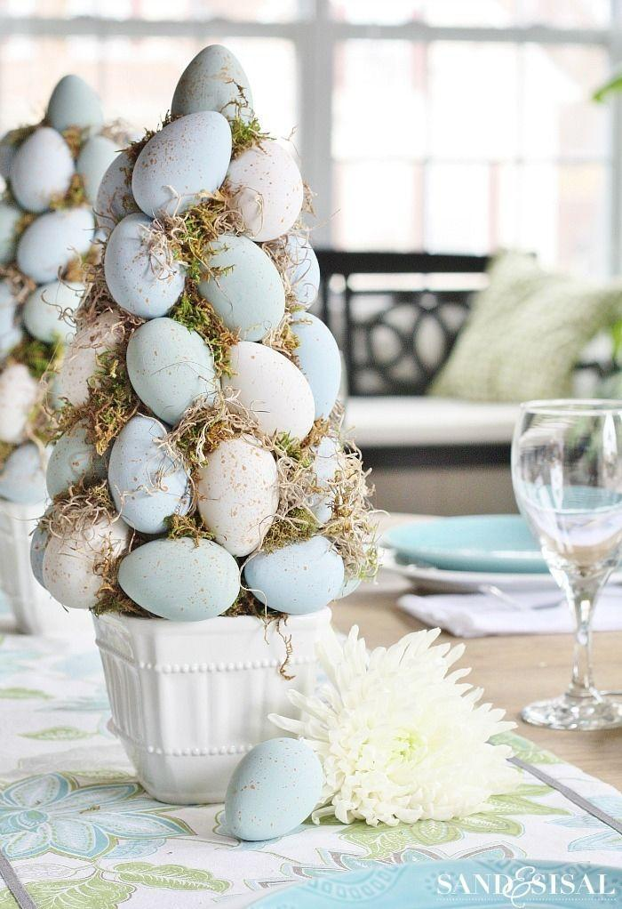 """<p>For those who prefer a more subdued, natural-looking color palette, this topiary tutorial is for you! <br></p><p><strong>Get the tutorial at <a href=""""https://www.sandandsisal.com/2015/03/easter-egg-topiary-tree.html"""" rel=""""nofollow noopener"""" target=""""_blank"""" data-ylk=""""slk:Sand and Sisal"""" class=""""link rapid-noclick-resp"""">Sand and Sisal</a>.</strong></p><p><strong><a class=""""link rapid-noclick-resp"""" href=""""https://www.amazon.com/gp/product/B000YQKDRU?tag=syn-yahoo-20&ascsubtag=%5Bartid%7C10050.g.26498744%5Bsrc%7Cyahoo-us"""" rel=""""nofollow noopener"""" target=""""_blank"""" data-ylk=""""slk:SHOP FOAM CONES"""">SHOP FOAM CONES</a><br></strong></p>"""