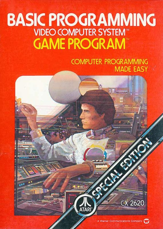 <p>Is that Buck Rogers? That console he's sitting at is incredible. <i>Basic Programming</i> must be just like flying a starship!<br /></p>
