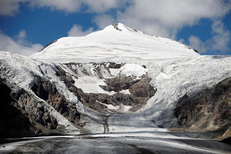 The Pasterze Glacier, Austria's largest glacier, is seen below Johannisberg summit located in the Hohe Tauern mountain range, in the Austrian province of Carinthia. (Photo: Lisi Niesner/Reuters)