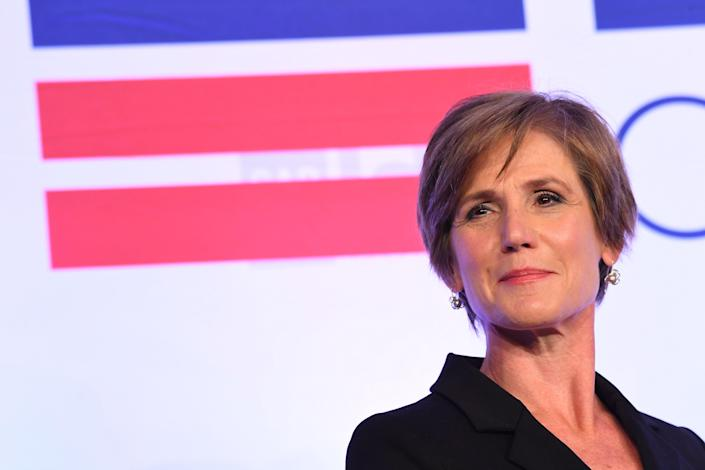 Sally Yates, former acting U.S. Attorney General, during a session of the Center for American Progress (CAP) annual ideas conference.