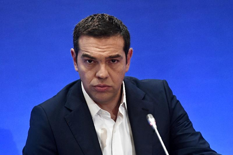 Greek Prime Minister Alexis Tsipras addresses the Thessaloniki International Fair (TIF) in northern Greece, on September 10, 2017