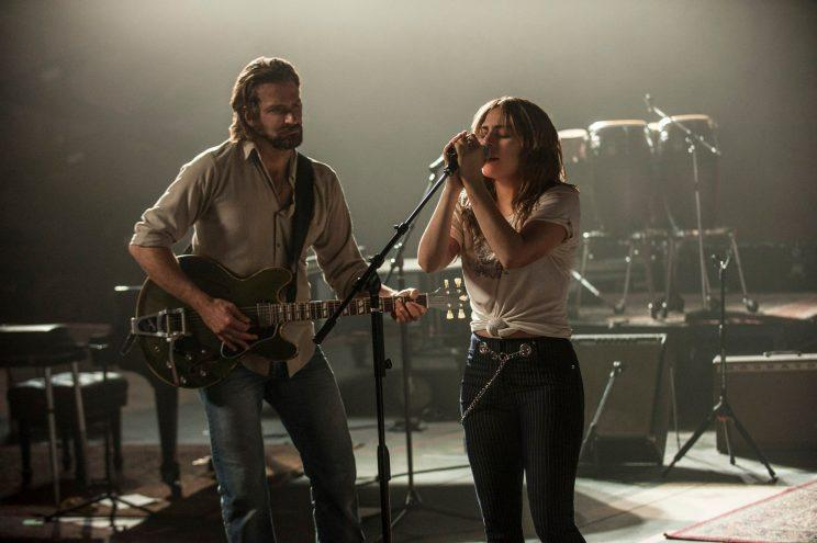 Star... Gaga and Cooper in the first look at the latest remake of 'A Star Is Born' - Credit: Warner Bros