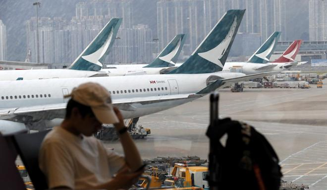 "Cathay Pacific has the second half of its 2019 profit outlook would be ""significantly below"" the first six months of last year. Photo: AP"