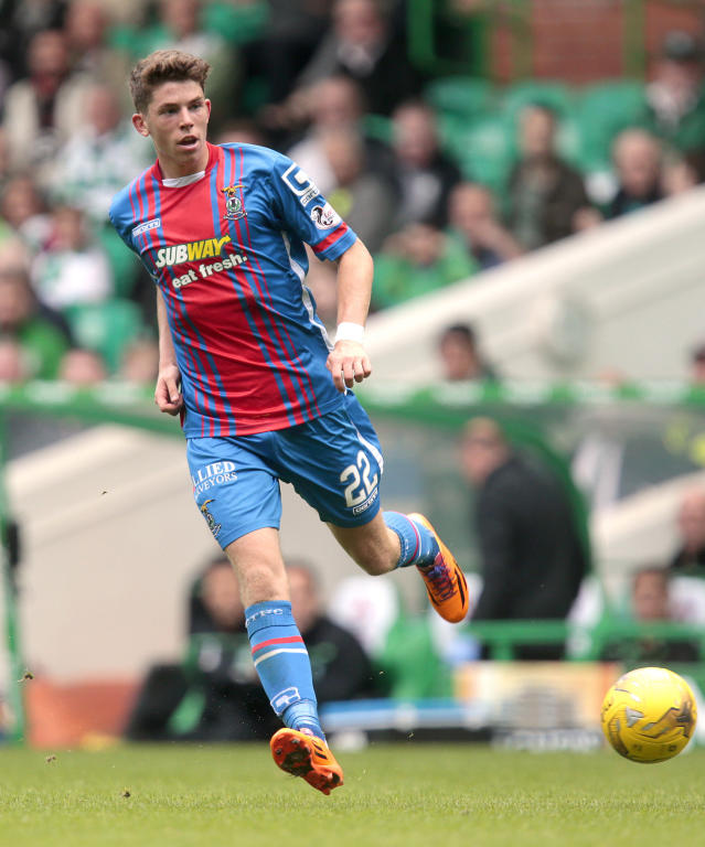 "Football - Celtic v Inverness Caledonian Thistle - Ladbrokes Scottish Premiership - Celtic Park - 15/8/15 Inverness Caledonian Thistle's Ryan Christie in action Action Images via Reuters / Graham Stuart Livepic EDITORIAL USE ONLY. No use with unauthorized audio, video, data, fixture lists, club/league logos or ""live"" services. Online in-match use limited to 45 images, no video emulation. No use in betting, games or single club/league/player publications. Please contact your account representative for further details."