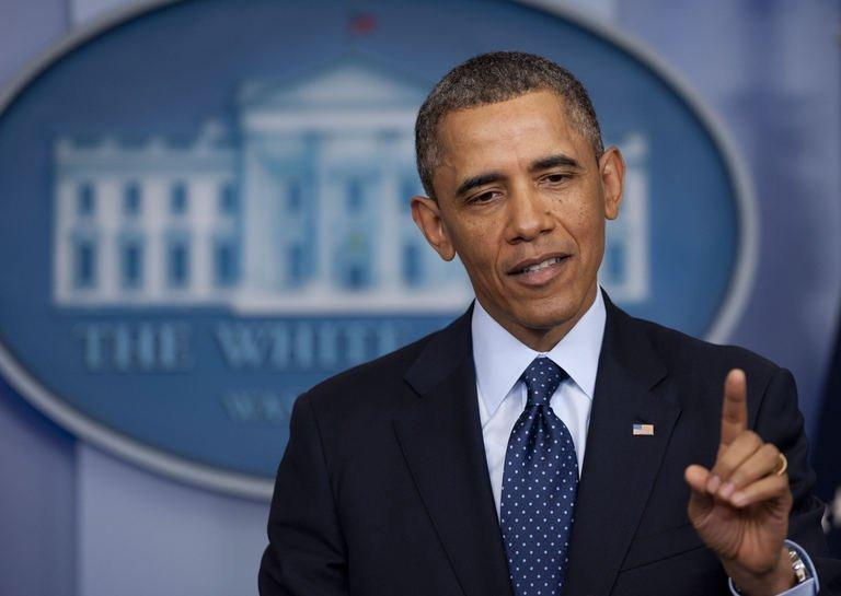 US President Barack Obama speaks to the media about sequestration, March 1, 2013