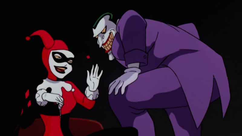 Harley Quinn and the Joker in 'Batman: The Animated Series'. (Credit: Fox)