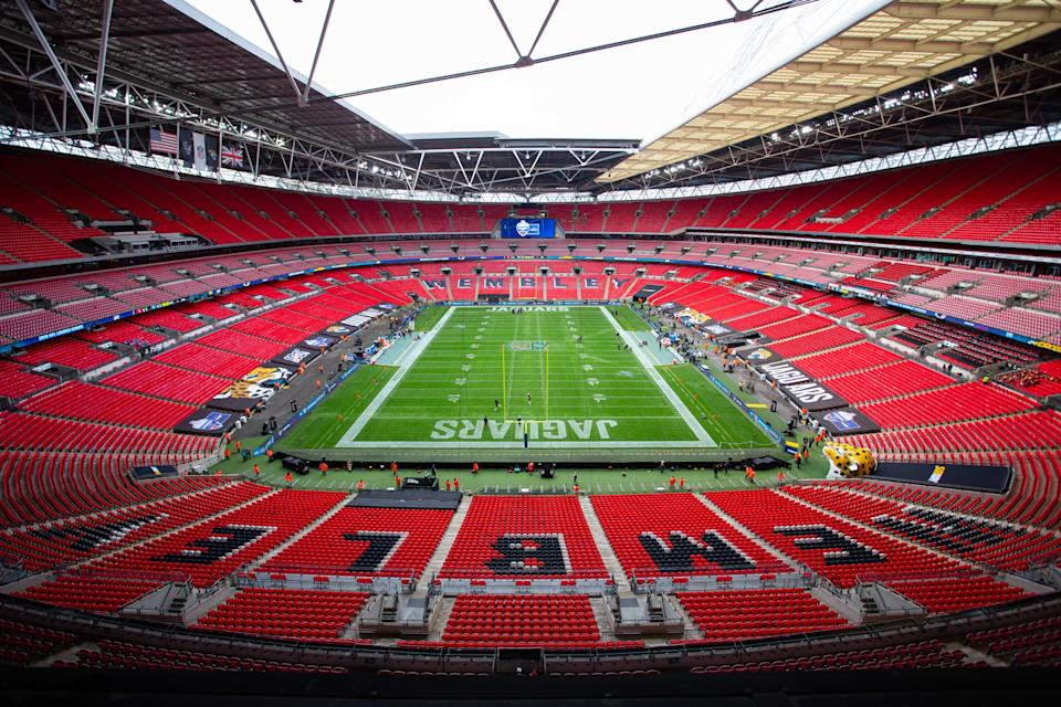 Wembley Stadium, road home of the Jaguars. (Photo by Martin Leitch/Icon Sportswire via Getty Images)