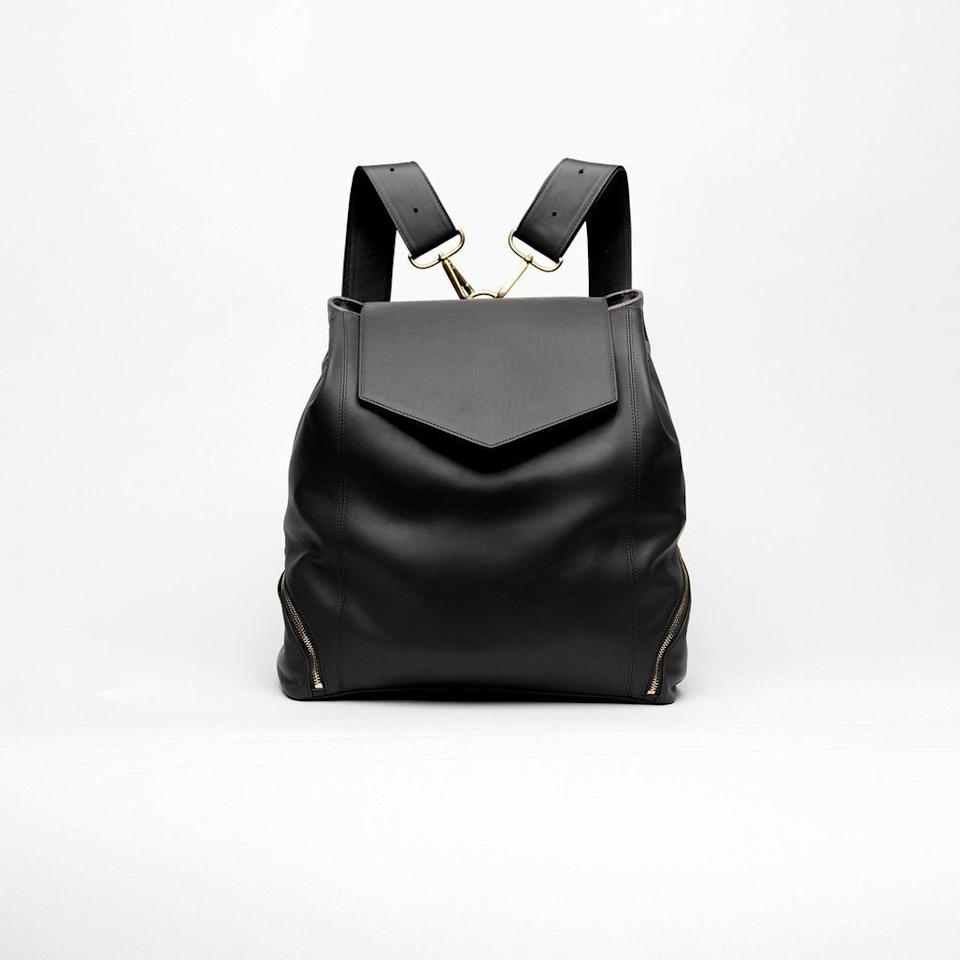 """<p>""""This backpack style bag is great for someone like me who has back issues—but it has a bottom zipper pouch that can hold anything from a pair of shoes to a bottle of wine to a refillable water bottle. It's also the perfect carry-on because it has a substantial leather panel so it can slide onto your wheelie bag without sliding off or tilting as you go through the airport."""" — <em>Leslie Yazel, Editor-in-Chief</em></p> <p><strong>To buy: </strong>$550; <a href=""""https://hollyandtanager.com/collections/professional-complete-collection/products/the-professional"""" target=""""_blank"""">hollyandtanager.com</a>.</p>"""