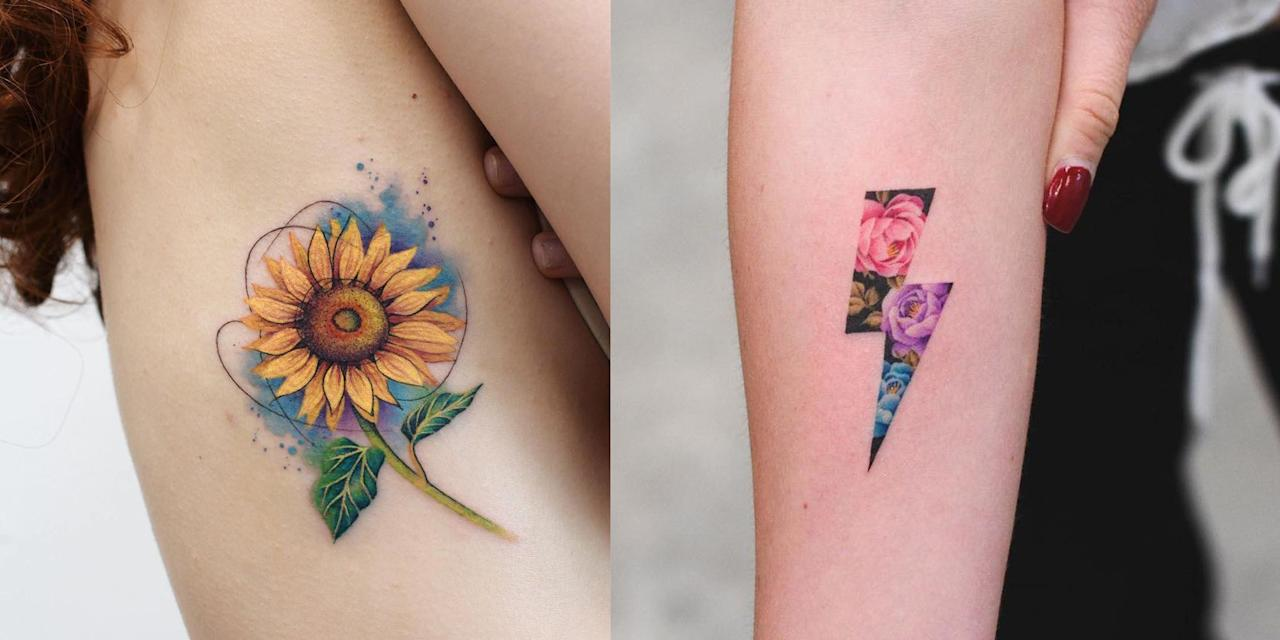 These Are The Prettiest Watercolor Tattoos We Ve Ever Seen
