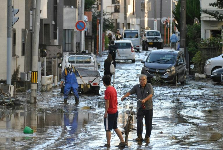 Typhoon Hagibis killed more than 100 people and caused widespread flooding in October (AFP Photo/JIJI PRESS)