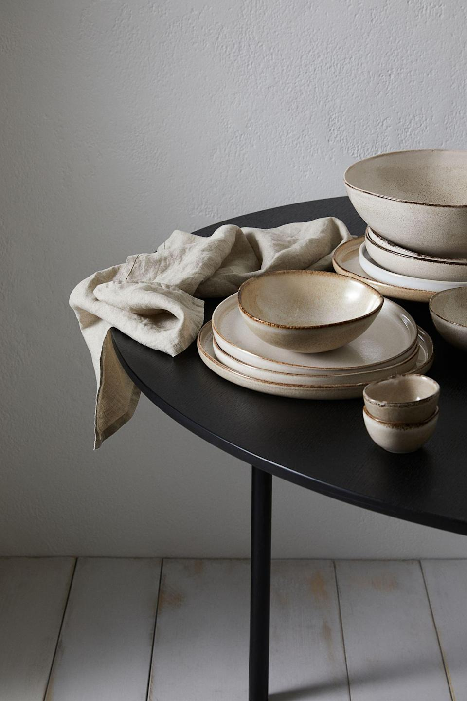 <p>How pretty will this <span>Large Stoneware Plate</span> ($15) look on your kitchen shelves? The color palette makes it easy to blend with a minimalist or farmhouse decor.</p>