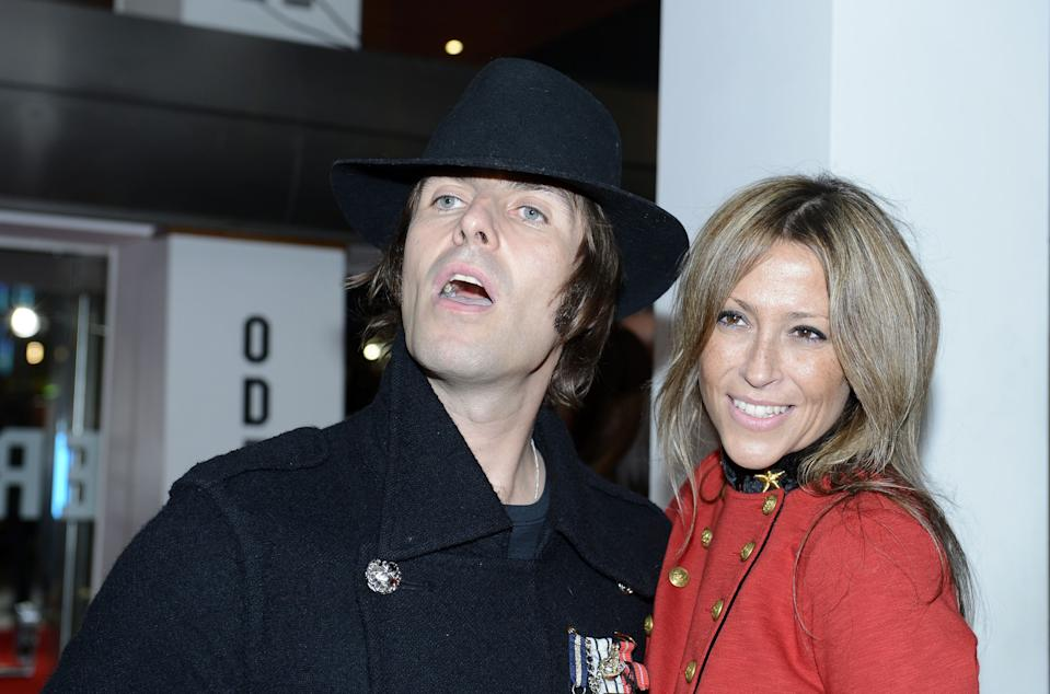 Liam Gallagher and his wife Nicole Appleton arrive to attend the gala screening of 'Crossfire Hurricane, Odeon Leicester Square, London.   (Photo by Jonathan Brady/PA Images via Getty Images)