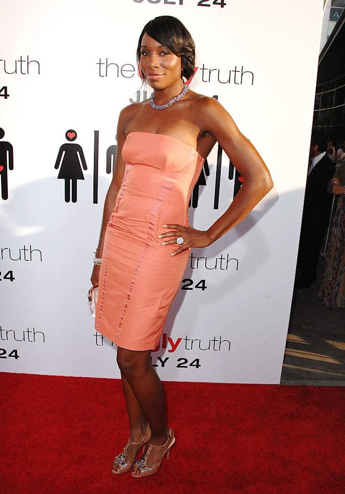 "While in Los Angeles for the ESPYs, Venus Williams also decided to pop by the premiere of ""The Ugly Truth."" Doesn't she look fab in coral?! Steve Granitz/<a href=""http://www.wireimage.com"" target=""new"">WireImage.com</a> - July 16, 2009"