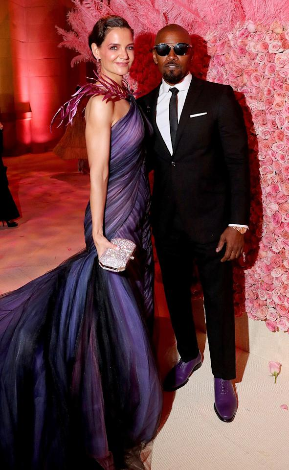 """The A-list actors have been dating since 2013 and they're still going strong.  """"When they can spend time together, they do. When they're busy and they can't, they don't. They are two adults who enjoy each other's company and have for a long time,"""" a source told <a href=""""https://people.com/movies/katie-holmes-and-jamie-foxx-are-going-strong-when-they-can-spend-time-together-they-do/"""">PEOPLE</a> in April about their <a href=""""https://people.com/movies/katie-holmes-jamie-foxx-relationship-history/"""">under-the-radar relationship</a>."""