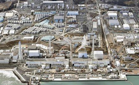 General aerial view of Tokyo Electric Power Co. (TEPCO)'s tsunami-crippled Fukushima Daiichi nuclear power plant in Fukushima prefecture, taken by Kyodo March 11, 2015. Mandatory credit REUTERS/Kyodo