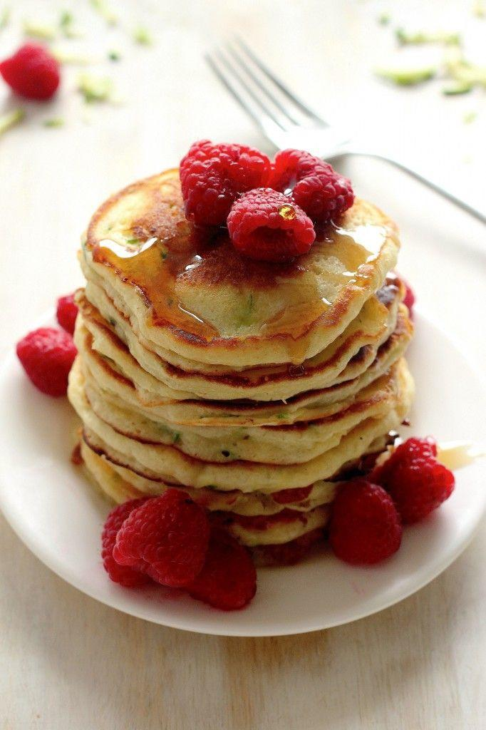 """<p>Pancakes are totally part of a healthy and complete breakfast.</p><p>Get the recipe from <a href=""""http://bakerbynature.com/healthy-greek-yogurt-zucchini-pancakes/"""" rel=""""nofollow noopener"""" target=""""_blank"""" data-ylk=""""slk:Baker by Nature"""" class=""""link rapid-noclick-resp"""">Baker by Nature</a>. </p>"""